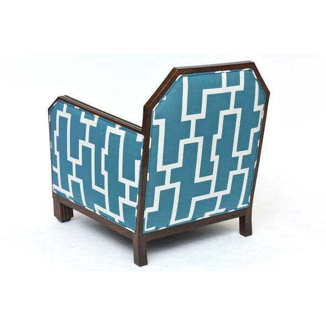 Fine Pair of Rosewood Art Deco Club Chairs, France, Paul Follot For Sale In Miami - Image 6 of 9