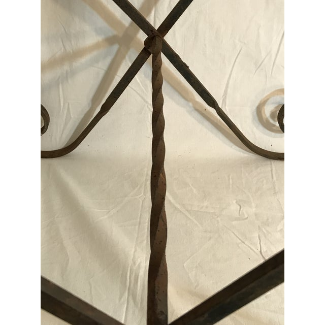 Antique Wrought Twisted Iron Table Base - Image 4 of 11