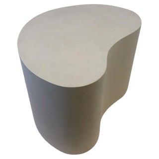 Leather Kidney Shape Side Table by Karl Springer For Sale