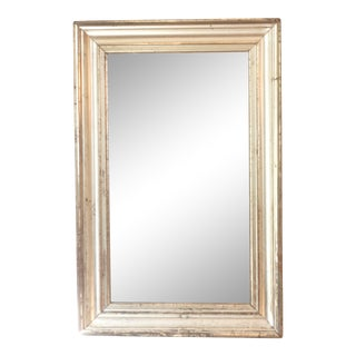 19th Century Silvered Wide Molding Mirror For Sale