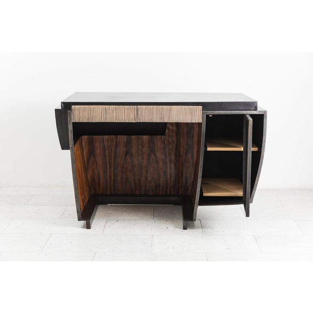 Metal Blackened Steel and Layered Bronze Desk, Usa, 2019 For Sale - Image 7 of 13