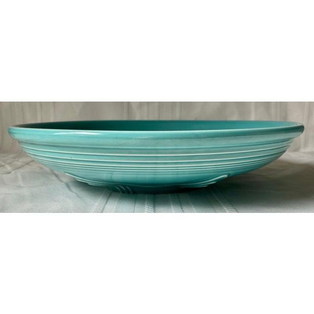1990s Vintage Fiesta Ware Blue Teal Serving Bowl For Sale - Image 4 of 7
