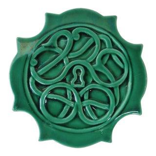 Green Majolica Trivet Wine Coaster