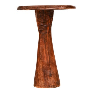 Organic Modern Studio Piece Solid Wood Live Edge Pedestal Table For Sale