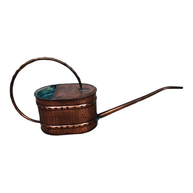Vintage French Country Rustic Copper Flower Watering Pot - Image 1 of 9