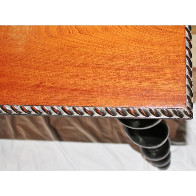 American Barley Twist Writing Desk For Sale - Image 10 of 11