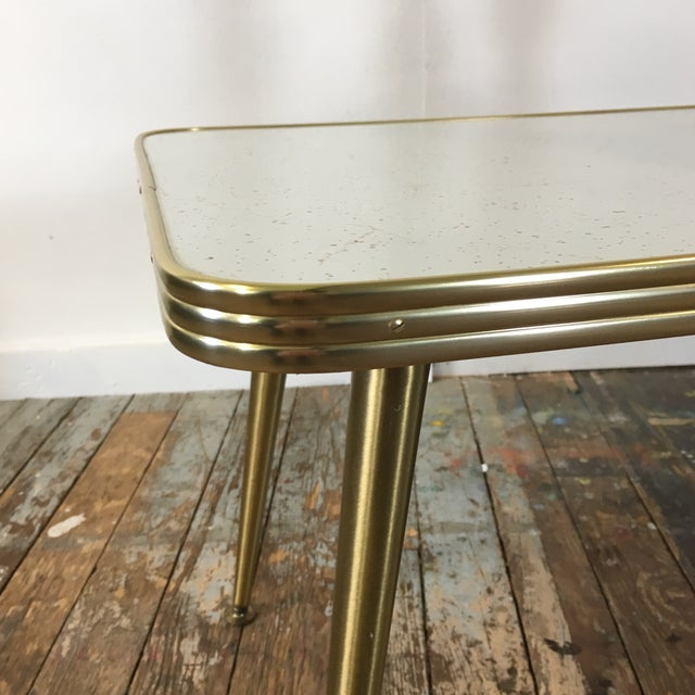 Mid-Century Brass & Formica Coffee Table - Image 6 of 8