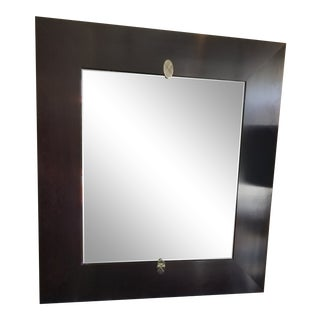 Barbara Barry for Baker Espresso Wood Wall Mirror For Sale