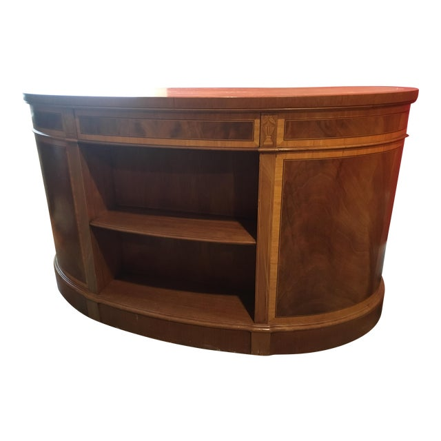Mahogany Leather Top Kidney-Shaped Desk For Sale