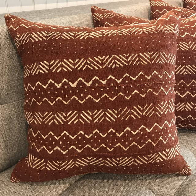 African African Mudcloth Throw Pillow For Sale - Image 3 of 10