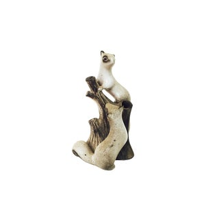 Vintage Howard Pierce Squirrels on Branch Pottery Vase