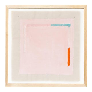 """Contemporary Pink 16"""" Print by Emily Keating Snyder, Framed For Sale"""
