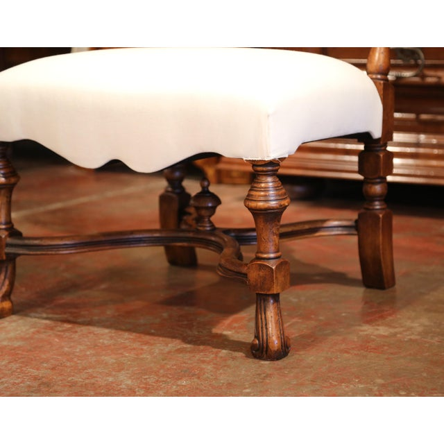 White Large French Carved Walnut Dining Room Side Chairs With Arched Top - Set of 10 For Sale - Image 8 of 13