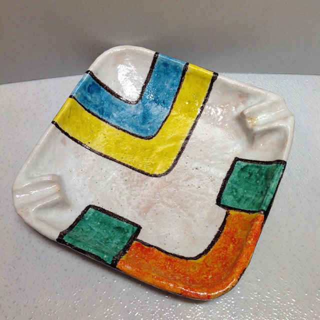 Bitossi Raymor Pottery Cigar Ashtray For Sale - Image 10 of 11