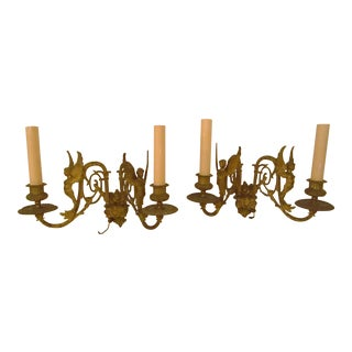 Ornate Wall Sconces - A Pair For Sale