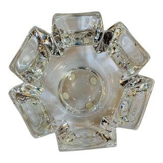 Orrefors Sweden Corona Crystal Bowl by Lars Hellsten For Sale