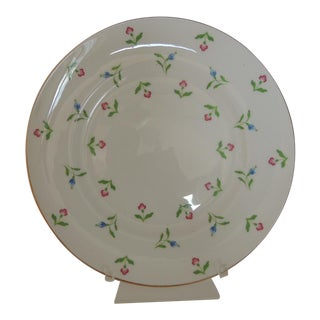 Royal Victoria English White and Pink Bone China Dessert Plate For Sale