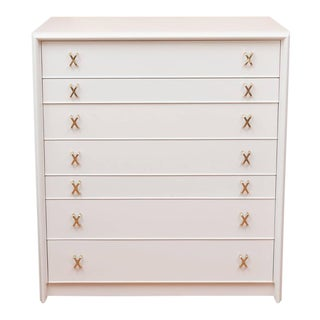 Paul Frankl Lacquered Seven-Drawer Chest For Sale