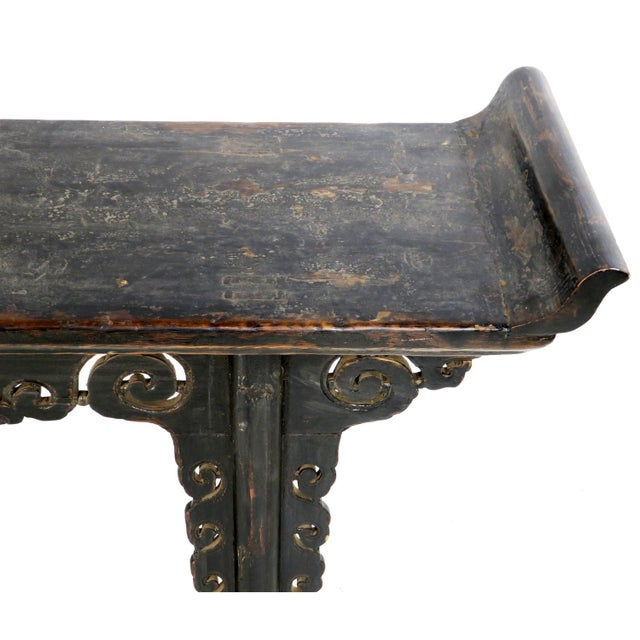 Antique Chinese 72 Quot Black Altar Sofa Hall Table With