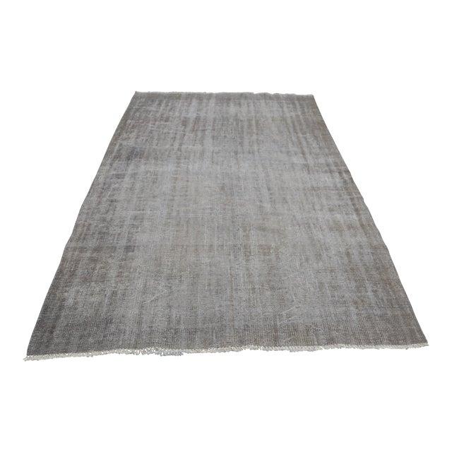 Tribal Turkish Antique Wool Floor Rug - 5′6″ × 9′5″ For Sale
