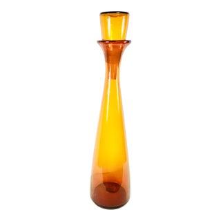 1960s Mid-Century Modern Blenko Monumental Jar With Stopper