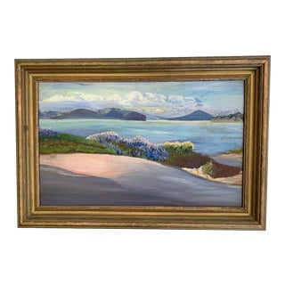 Early 20th Century Seascape Painting, Framed For Sale