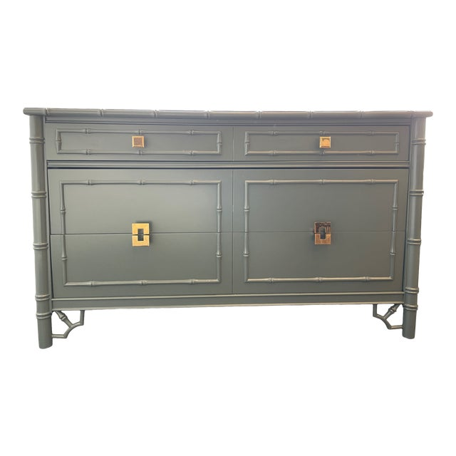 1960s Thomasville Chinoiserie Allegro Lowboy Dresser/Chest For Sale