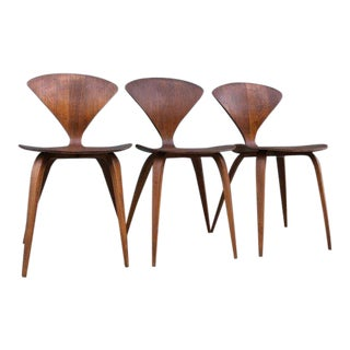 1950s Vintage Norman Cherner for Plycraft Pretzel Chairs- Set of 3 For Sale