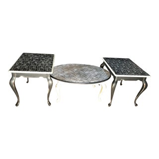 Vintage Coffee Table & 2 Side/End Tables - Set of 3