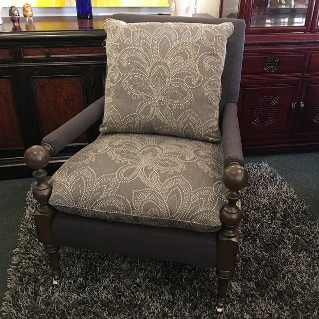 New Cr Laine Bradstreet Chair & Ottoman Set - Image 3 of 11