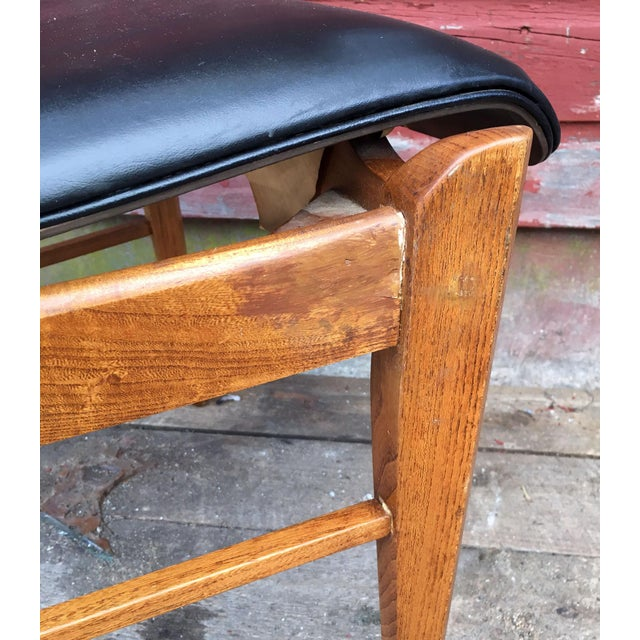 Set of 4 Mid Century Modern Lane High Back Walnut Dining Chairs For Sale - Image 10 of 11