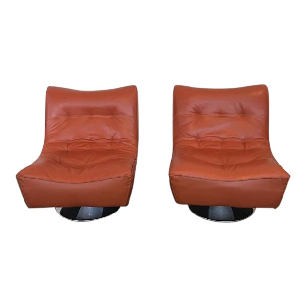 Peachy Mid Century Modern Style Swivel Nest Chairs A Pair Onthecornerstone Fun Painted Chair Ideas Images Onthecornerstoneorg