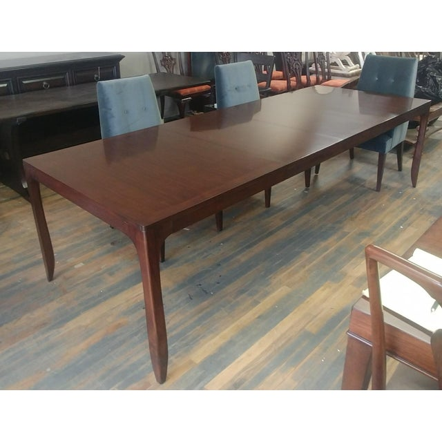 HENREDON FURNITURE BARBARA BARRY PERFECT PARSONS WALNUT DINING TABLE Sale includes one complete dining table with two...