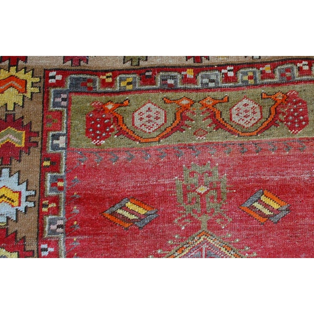 1920s Antique Turkish Anatolian Hand Made Rug - 3′1″ × 4′7″ - Image 5 of 7