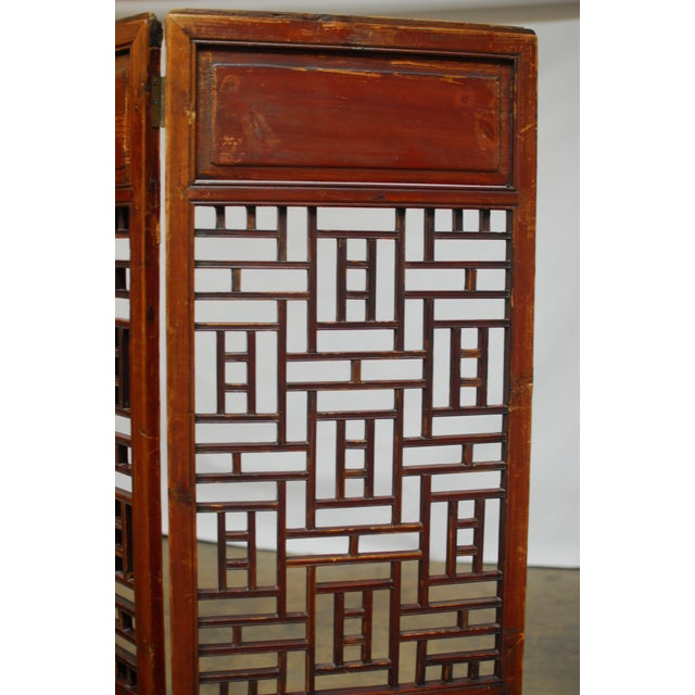 Chinese 19th Century Lattice Panel Screen For Sale - Image 3 of 9