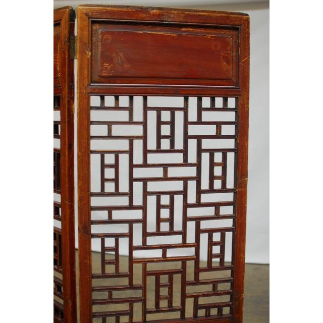 Asian 19th Century Lattice Panel Screen For Sale - Image 3 of 9