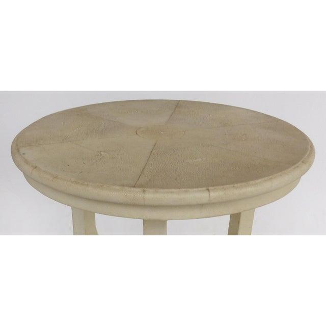 Maitland - Smith Maitland Smith Tri-Leg Shagreen Side Table For Sale - Image 4 of 10
