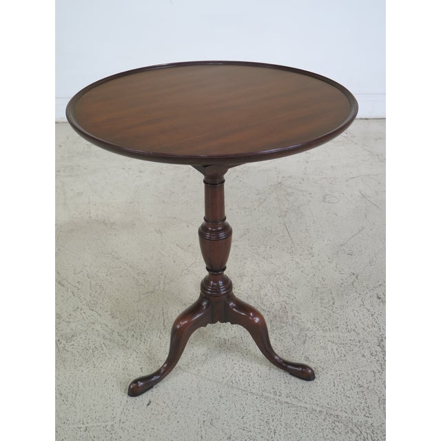 Mahogany Kittinger Colonial Williamsburg Model CW-11 Mahogany Tilt Top Table For Sale - Image 7 of 11