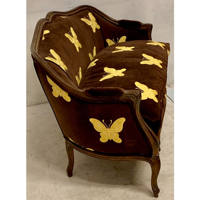Mid 20th Century Meyer Gunther Martini French Style Settee For Sale - Image 5 of 8