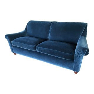 A. Rudin Blue Mohair Sofa For Sale