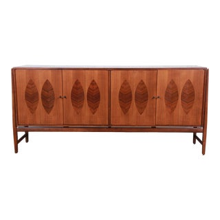 Kipp Stewart for Calvin Furniture American Design Foundation Walnut and Rosewood Sideboard Credenza For Sale