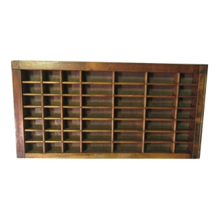 1930s Early American Printer Block Drawer For Sale