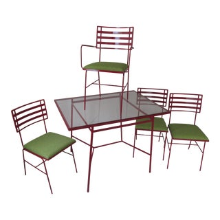 Mid-Century Modern Outdoor Dining Set - 5 Pieces