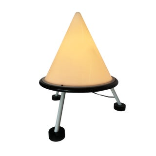 Post Modern Acrylic Geometric Cone Table Lamp For Sale