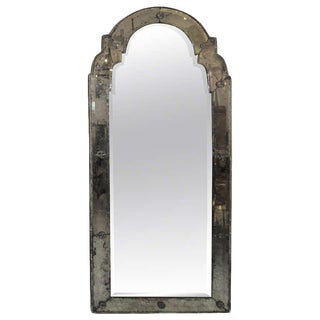 Queen Anne Style Italian Antique Mirror For Sale