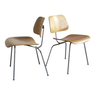 Early Eames for Herman Miller Plywood Side Chairs- a Pair