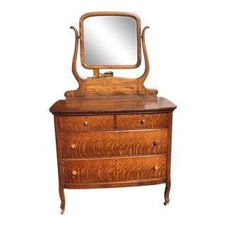 Antique Tiger Oak American Dresser