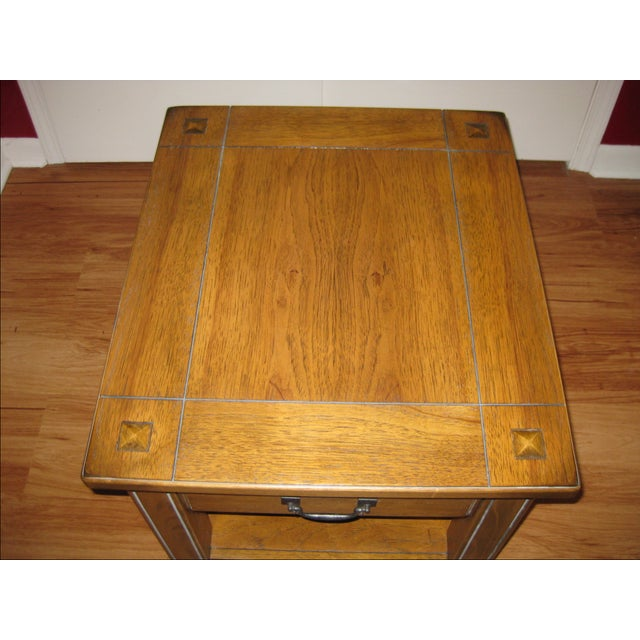 Vintage Rustic Style End Table For Sale - Image 9 of 10