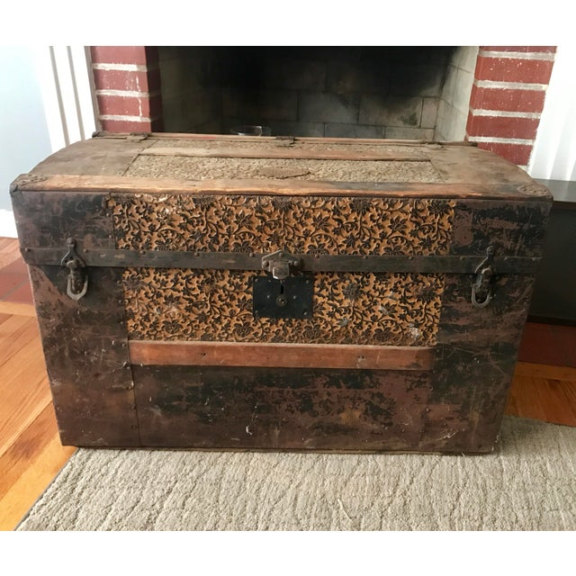 Brown Antique Palica Common Sense Wood Trunk For Sale - Image 8 of 8