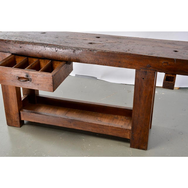 19th Century French Carpenters Workbench Table For Sale In Detroit - Image 6 of 13